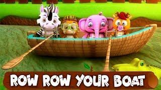 ряд ряд ряд ваша лодка | детские стишки | Детские песни | мультфильмы для детей | Row Row