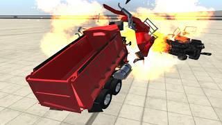 Мультфильмы про Машинки Взрыв Аварии Погони для Детей Новые Мультики Игра BeamNG drive #8