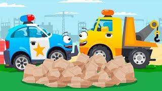Мультики про машинки Полицейские Машины СУПЕР ГОНКИ в Городе Новые Мультфильмы для детей