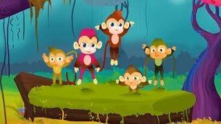 пять маленьких обезьян | русский мультфильмы для детей | Five Little Monkeys | Kids ABC TV Russia
