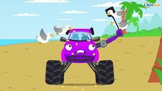 Экскаватор и большой строительство | Детские грузовики-мультфильмы для детей