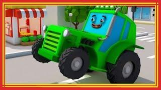 Трактор НОМЕР ОДИН Экскаватор и БОЛЬШИЕ МАШИНЫ Мультфильмы для детей мультик про машинки