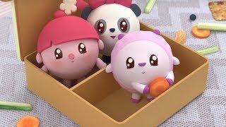 Малышарики - Коробочка - серия 129 - Обучающие мультфильмы для малышей - о перекусе
