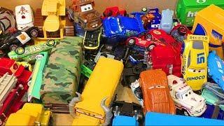 Мультики про Машинки Тачки Игрушки Большая Коробка Мультфильмы для Детей Играем Вместе