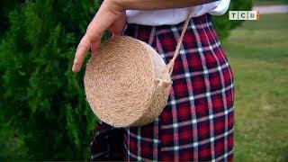 Как сделать плетёную сумку своими руками