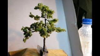 Дерево для диорамы из проволоки и поролона / Как сделать дерево для диорамы?