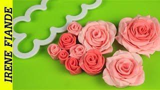 Как сделать красивую розу из мастики за 5 минут