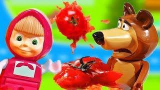 Маша и Медведь новые серии мультик для детей! Помидорные ванны. Развивающий мультфильмы