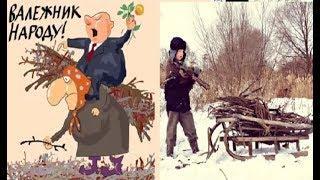 Про валежник. Сбор валежника. Карикатуры смешные картинки юмор  Жизнь в деревне