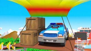 Мультики про Машинки - Полицейская Машина и Гонки на ВОЗДУШНОЙ ШАРЕ | Мультфильмы для детей