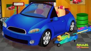 Мультики для самых маленьких для детей - Автосервис и безопасность на дороге.Мультфильмы про машинки