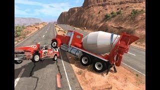 Мультфильмы про Машинки Аварии Погони для Детей Новые Мультики игра BeamNG Drive (31)