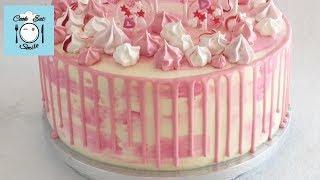 Как сделать цветные шоколадные подтёки на торте