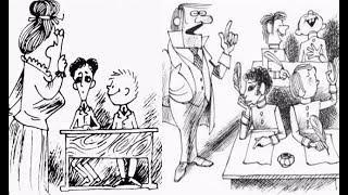 Ученик прошлого. В прошлом за партой. Карикатуры смешные картинки юмор.
