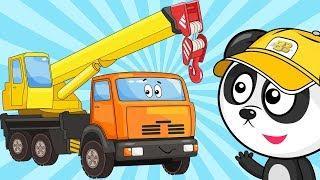 Мультик Про Машинки – Собираем Подъемный Кран – Развивающие Мультфильмы Для Детей