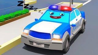 Мультики про машинки - Полицейские Машины СУПЕР ГОНКИ в Городе Мультфильмы для детей
