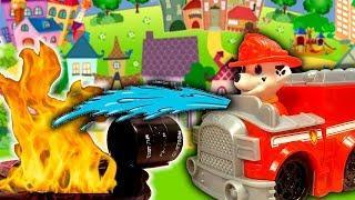 Щенячий Патруль мультик с игрушками – Спасение маленького Котенка! Мультфильмы про машинки для детей