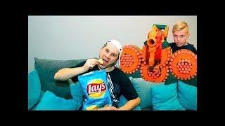 MEGA NERF  WAR!!! Nerf битва за ЧИПСЫ!!! Nerf Battle for Chips!!! 5 #kdy