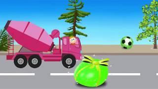 Учим цвета яиц с машинкой. Мультфильмы для детей Видео для детей. Детский Канал