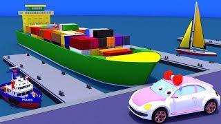 Мультики про машинки. Машинка Люся и водный транспорт. Изучаем корабли. Развивающие мультфильмы.