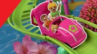 Playmobil Film deutsch - Achterbahn im Polly Pocket Freizeitpark - Kinderfilm von Familie Hauser