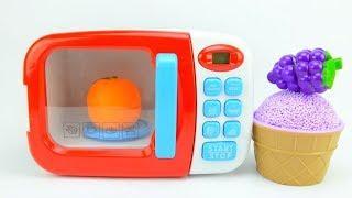 Мороженое из шарикового пластилина Фрукты и цвета для детей