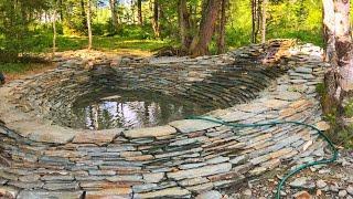 Пленочный пруд Водоем ручей 45 метров Шерегеш экопруд пруд 2018 как сделать плавательный пруд