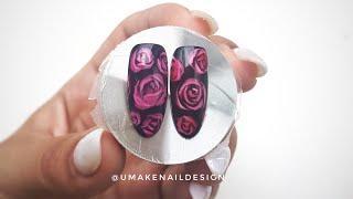 Витражные розы на ногтях. Как сделать витражный гель- лак?