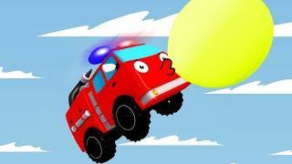 Мультики про машинки - Пожарная Машина и Монстр Трак - Новый Сборник Мультфильмы для детей