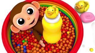 Дети - Мультики - Познавательное видео для детей. день рождения мартышки
