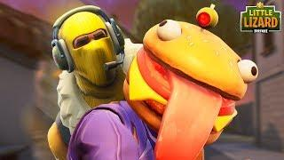 RAPTOR TRIES TO EAT DURR BURGER! *NEW SKIN* Fortnite Short Film