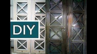 WOODEN DOOR.РЕСТАВРАЦИЯ ДВЕРИ или Как сделать недорогие двери. ДВЕРЬ ПОД НОВЫЙ ИНТЕРЬЕР БЕЛОЕ МАСЛО.