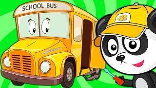 Развивающие Мультики Про Машинки – Школьный Автобус Снова в Школу - Веселые Мультфильмы Для Малышей
