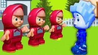 Игрушки для детей! Фиксики. Маша и Медведь. Герои в масках. Развивающие мультфильмы