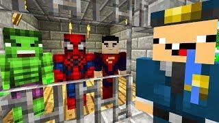НУБ И ПРО ПОСАДИЛИ ВСЕХ СУПЕРГЕРОЕВ В ТЮРЬМУ В Майнкрафт! КАК СДЕЛАТЬ ПОБЕГ ИЗ ТЮРЬМЫ В Minecraft?