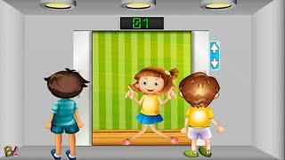 БЕЗОПАСНОСТЬ ДЕТЕЙ в лифте  Правильное поведение Познавательный мультик игра