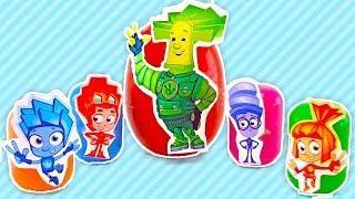 СЮРПРИЗЫ!!! Открываем киндер сюрпризы с игрушками ФИКСИКИ. Учим цвета. Развивающий мультик для детей