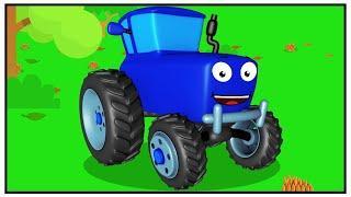 Мультфильмы про Машинки - Синий Трактор Павлик и МНОГО МЯЧИКОВ для Детей
