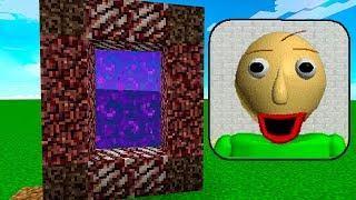 КАК СДЕЛАТЬ ПОРТАЛ В МИР БАЛДИ! ДОМ BALDI В Майнкрафт! ЧТО СКРЫВАЕТ ОТ НУБА И ПРО БАЛДИ! Minecraft