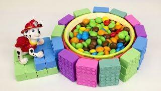 Как сделать тарелку для конфет из Кинетического песка для Щенячьего Патруля