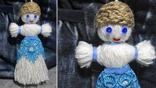 Как сделать куклу  из пряжи. Куклы своими руками