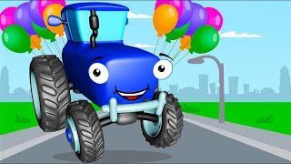 Мультики про Машинки СИНИЙ ТРАКТОР и Игры с Мячиком Мультфильмы для детей