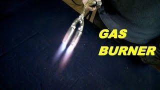 Как сделать газовую горелку своими руками,для широкого нагрева металла
