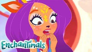 Enchantimals Россия | Забавные истории: Зелёный язык, голубой язык | мультфильмы для детей