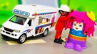Мультики про машинки. Петрович делает прически из пластилина Play Doh. Мультфильмы для детей