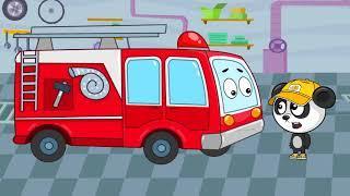 Мультфильмы Про Машинки - Пожарная Машина в Гостях у Биби - Развивающие Мультики Для Детей