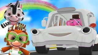 колеса на автобусе | детские стишки | мультфильмы для детей | Little Treehouse | Wheels On the Bus
