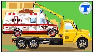 Мультики про машинки Скорая помощь Эвакуатор Полицейская Машина Мультфильмы для детей