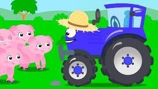 Мультики про Машинки Синий Трактор и СУПЕР РАБОТА НА ФЕРМЕ Мультфильмы Для Детей