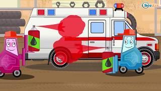 Мультики для детей про Скорую Помощь и Полицейскую машину Развивающие мультфильмы